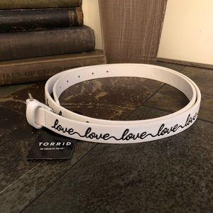 """🎈5/$25 TORRID """"Love"""" Belt"""